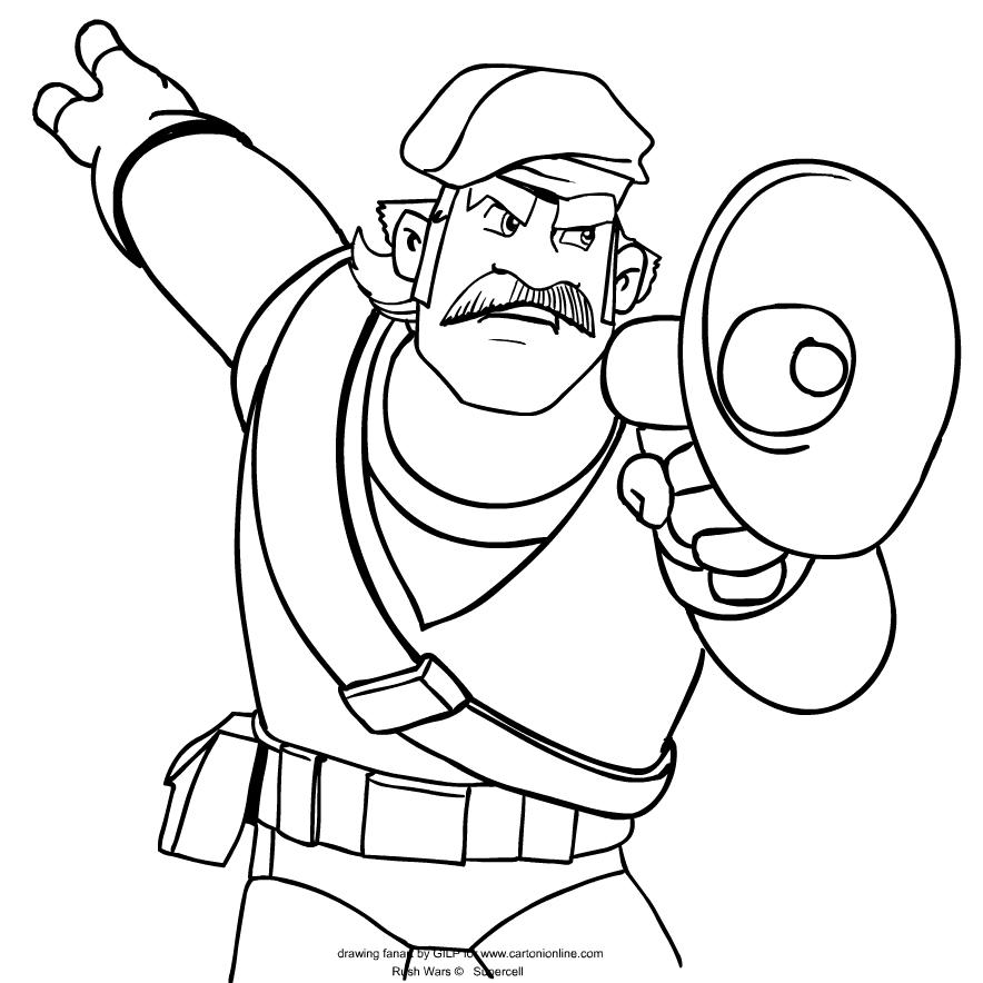 Coloriage de Coach de Rush Wars is imprimer et colorier