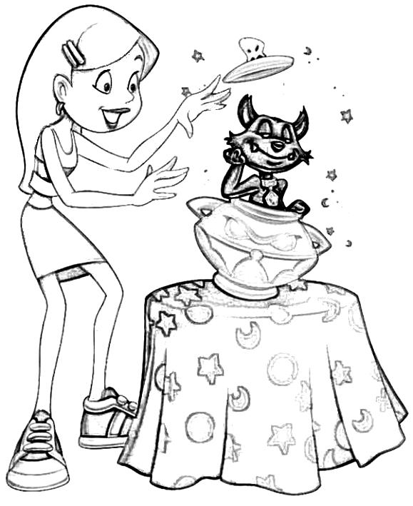 Dibujo 3 de Sabrina para imprimir y colorear