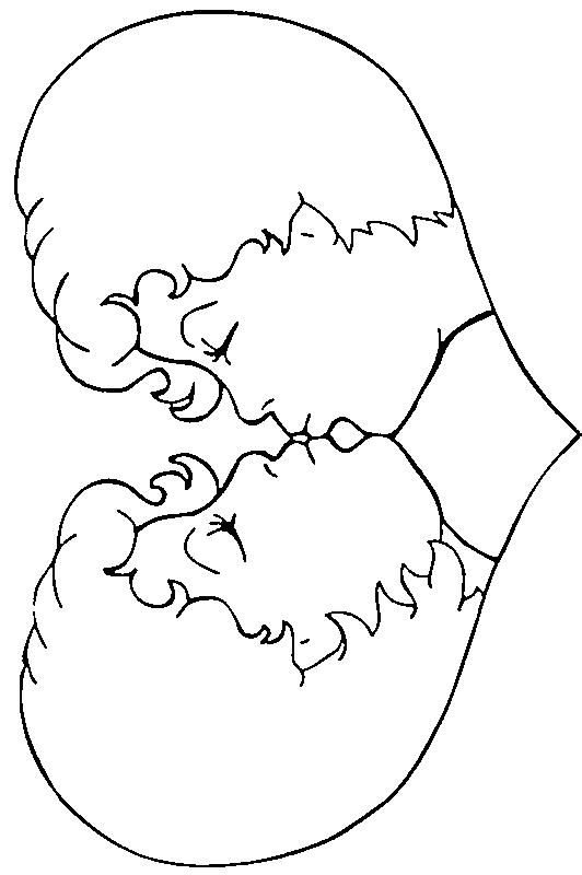 Dibujo 3 de San Valentín para imprimir y colorear
