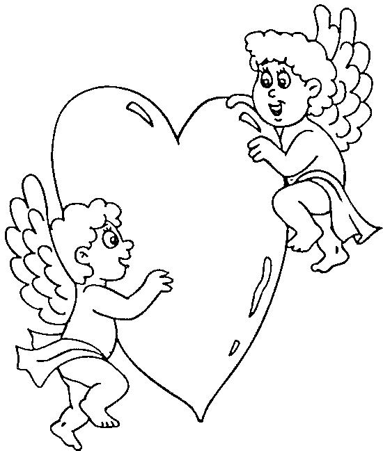 Dibujo 9 de San Valentín para imprimir y colorear