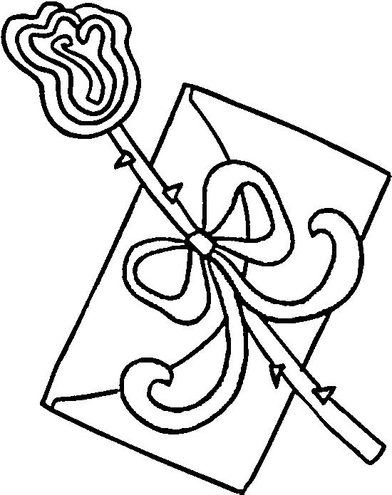 Dibujo 13 de San Valentín para imprimir y colorear