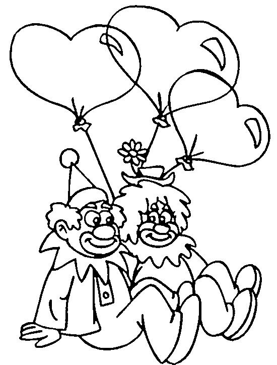 Dibujo 17 de San Valentín para imprimir y colorear