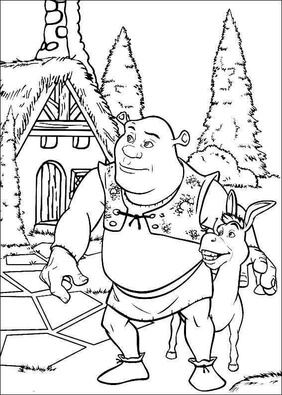 Desenho 4 de Shrek para imprimir e colorir