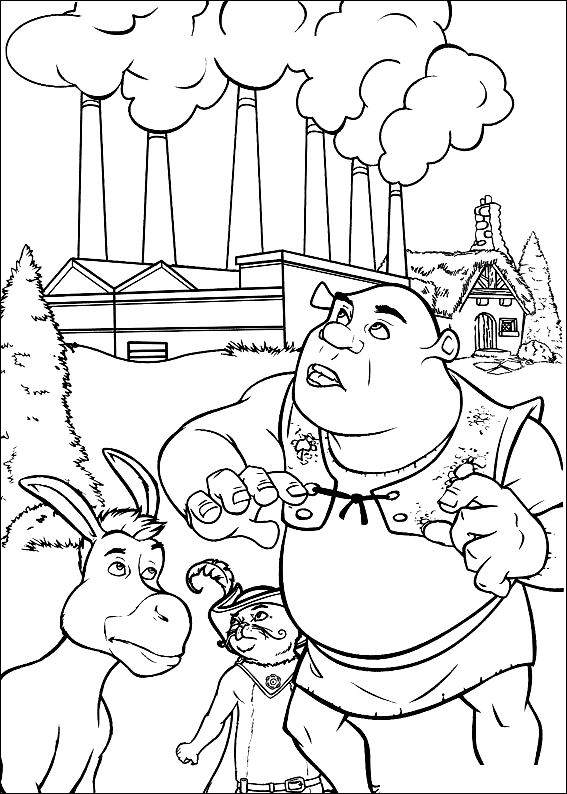Desenho 5 de Shrek para imprimir e colorir