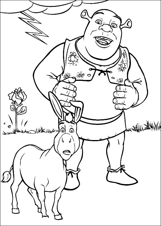 Desenho 6 De Shrek Para Colorir