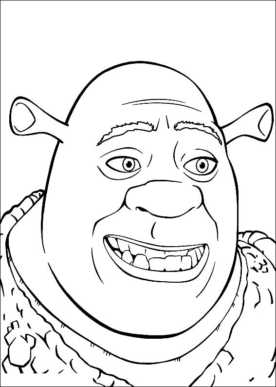 Desenho 20 de Shrek para imprimir e colorir