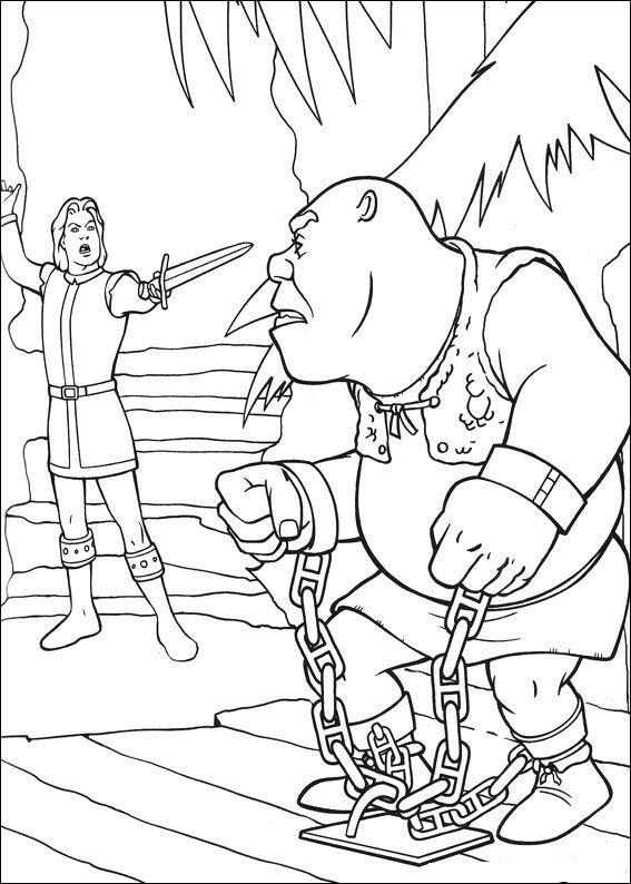 Desenho 21 de Shrek para imprimir e colorir