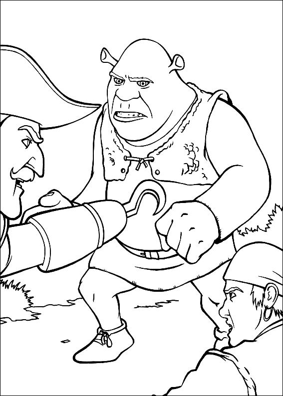 Desenho 22 de Shrek para imprimir e colorir