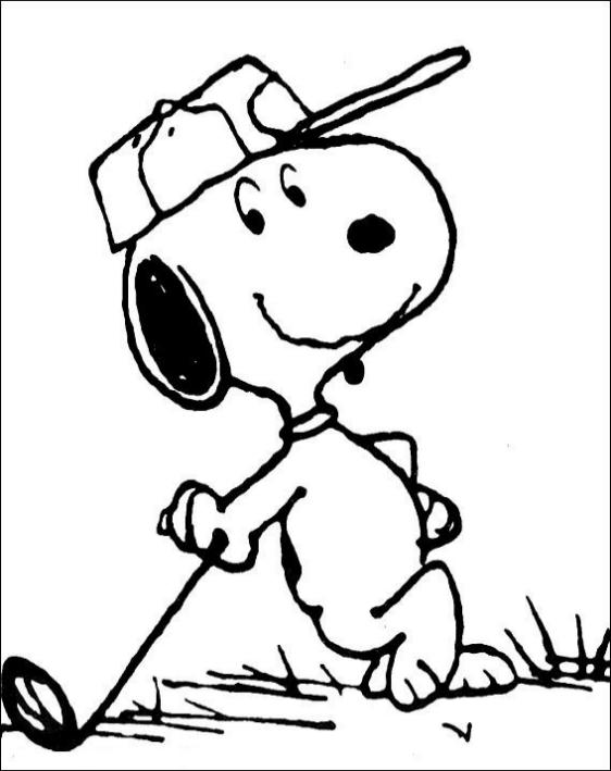 Desenho 1 De Snoopy Para Colorir