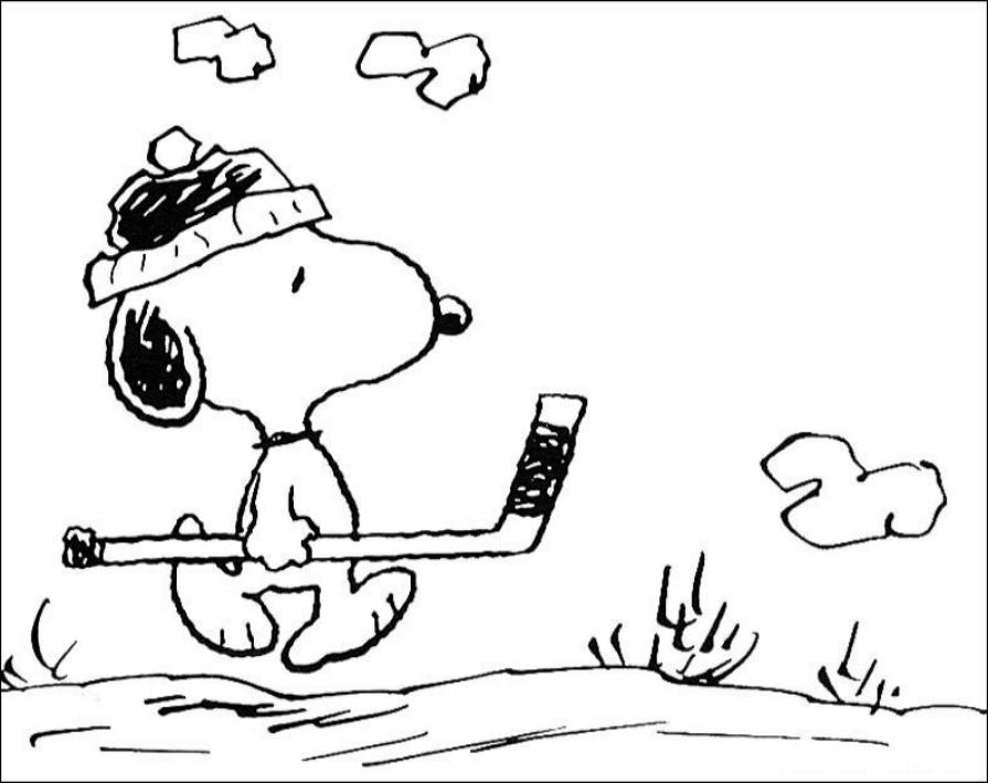 Desenho 2 De Snoopy Para Colorir
