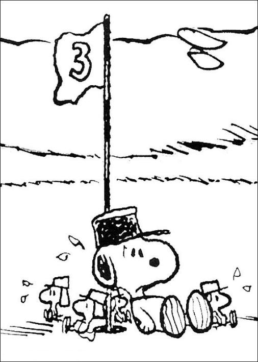 Desenho De Snoopy Para Colorir