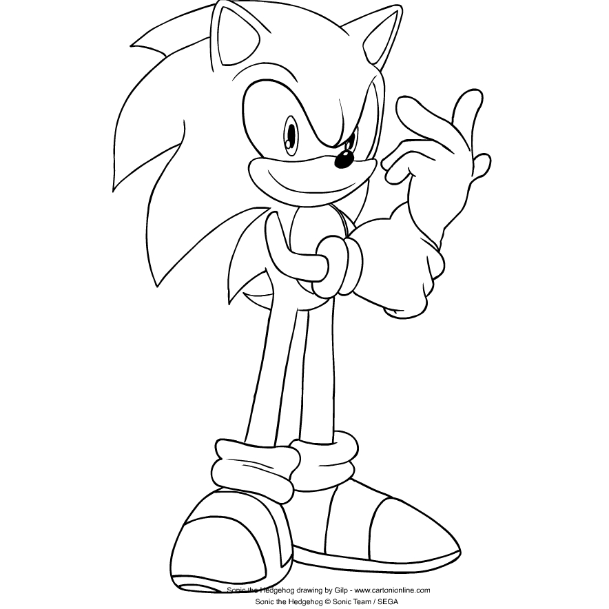 Sonic The Hedgehog Coloring Page Drawing 5