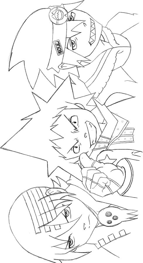 Soul Eater 5 dibujo para imprimir y colorear