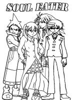Coloring page Manga : Soul Eater 1   198x146