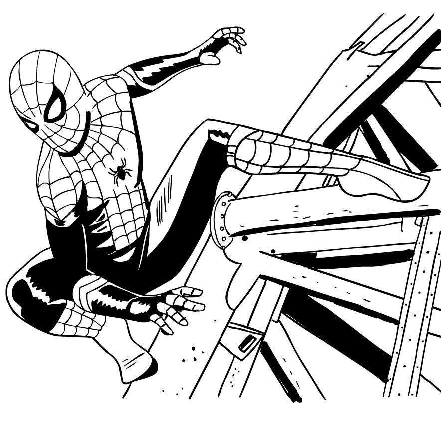 Ausmalbilder 1 Spider-Man Far from Home zum Drucken und Färben