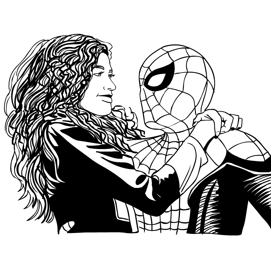 Spider Man Far From Home Coloring Page Drawing 5