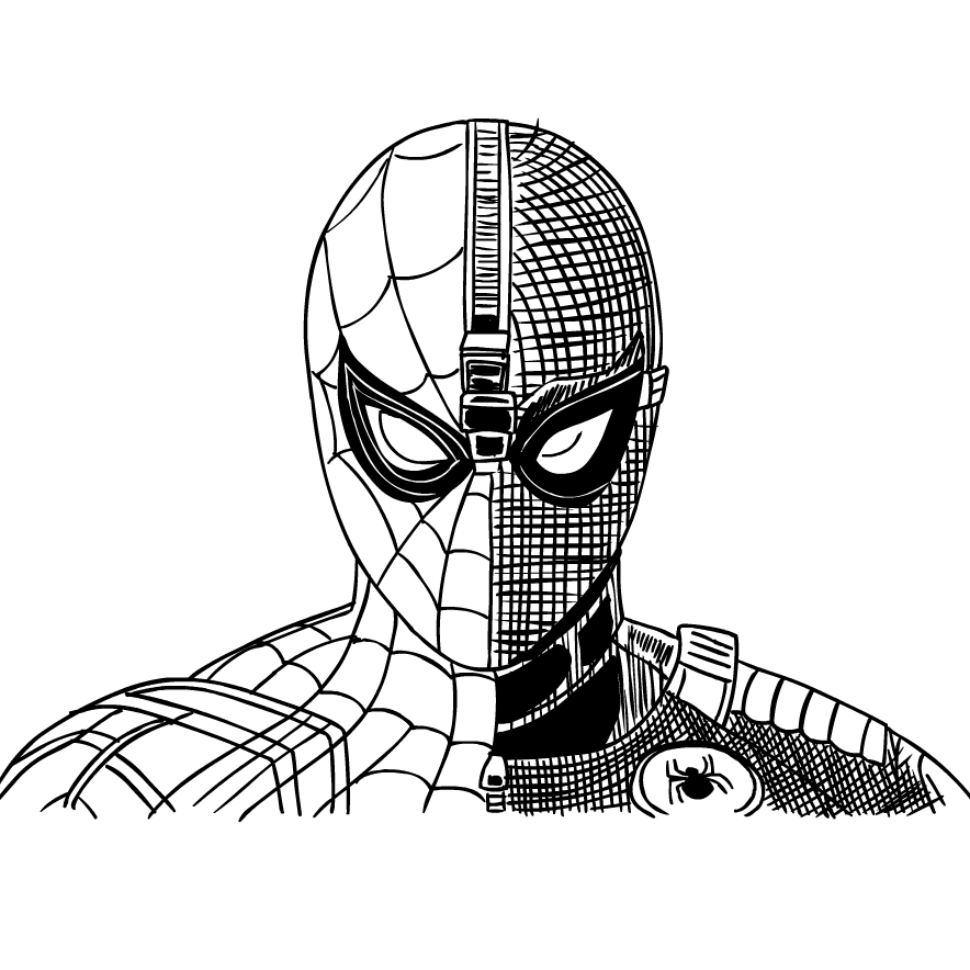 Spider Man Far From Home Coloring Page Drawing 6