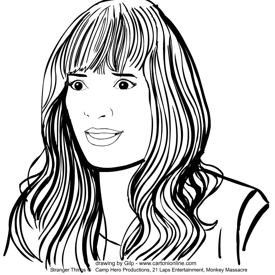 Disegno Di Joyce Byers Winona Ryder De Stranger Things Da Colorare