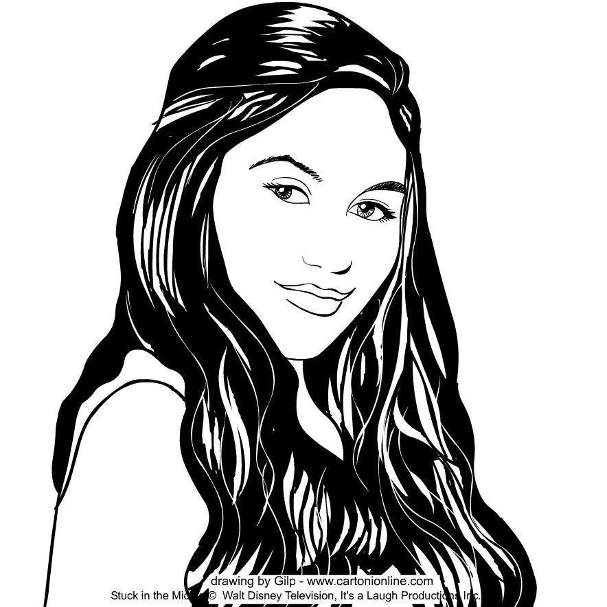 Rachel Diaz (Ronni Hawk) from Stuck in the Middle värityskuvat tulostaa ja värittää