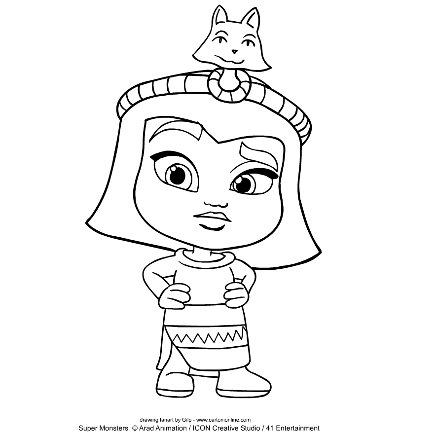 Cleo Graves from Super Monsters coloring page