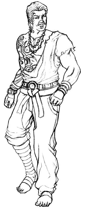 Suunnittelu 4 from Tekken  värityskuvat tulostaa ja värittää