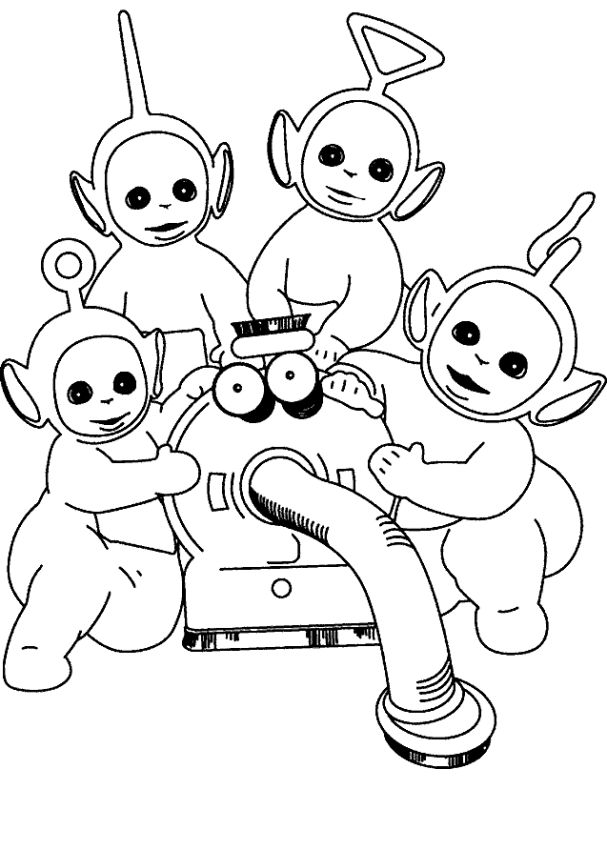 Teletubbies to color for children - Teletubbies Kids Coloring Pages | 850x607