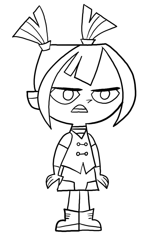 Gwen from Total DramaRama coloring page to print and coloring