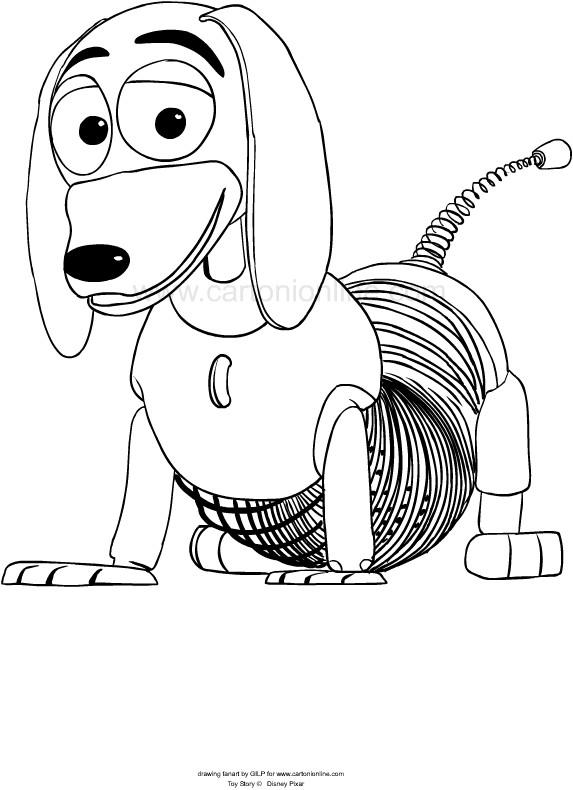 Dibujo De Slinky De Toy Story 4 Para Colorear