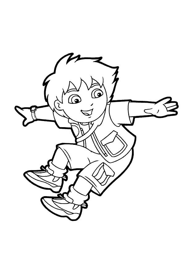 Suunnittelu 3 from Go, Diego, Go! värityskuvat tulostaa ja värittää