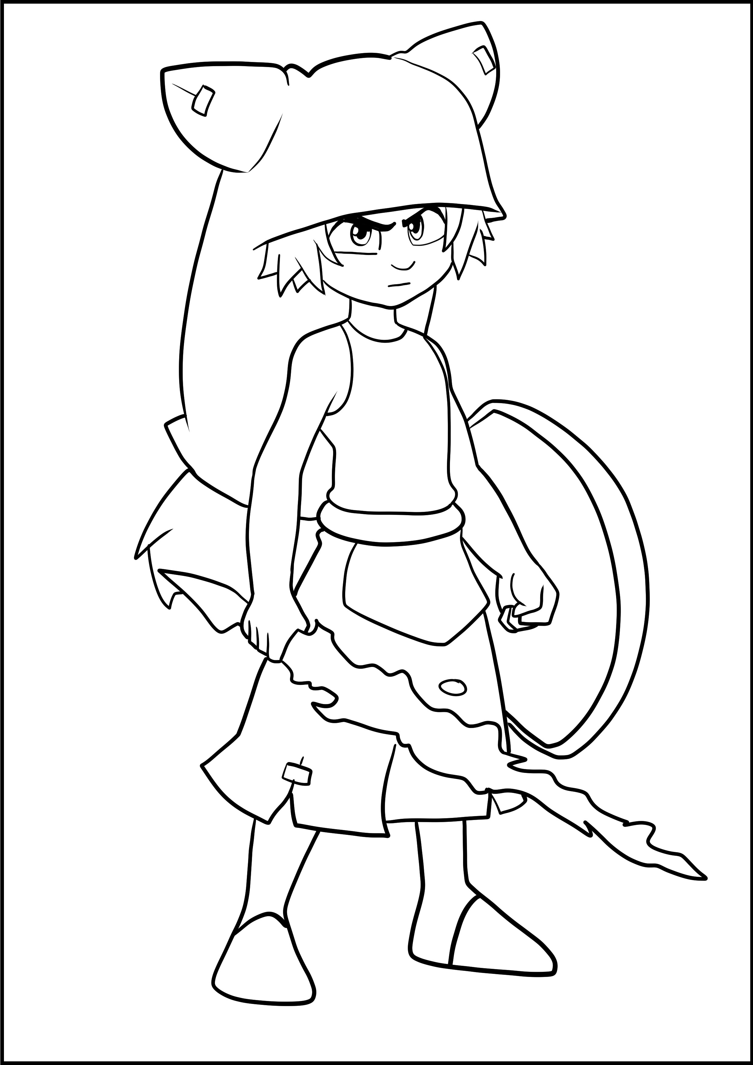 Desenho de Yugo de Wakfu para imprimir e colorir