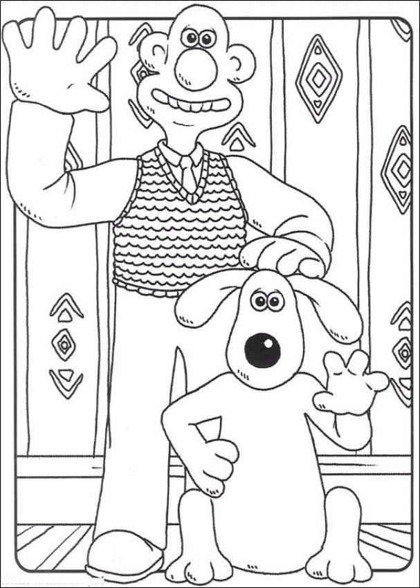 Coloriage 1 de Wallace and Gromit is imprimer et colorier
