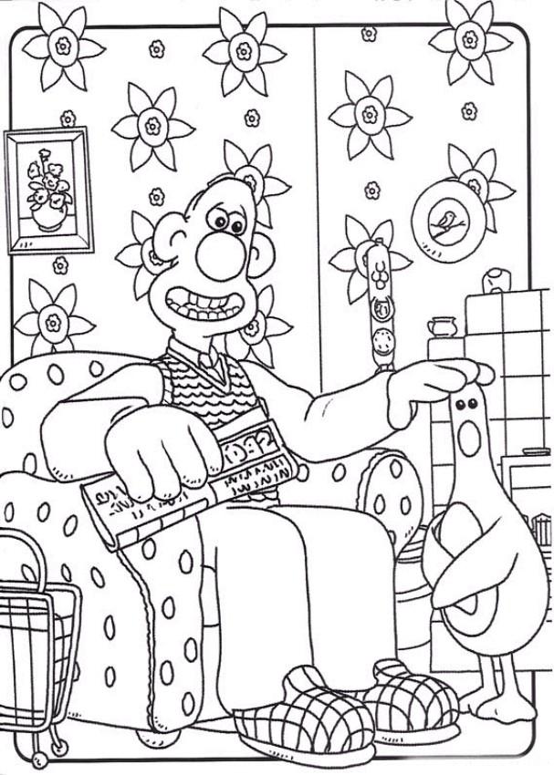Coloriage 3 de Wallace and Gromit is imprimer et colorier