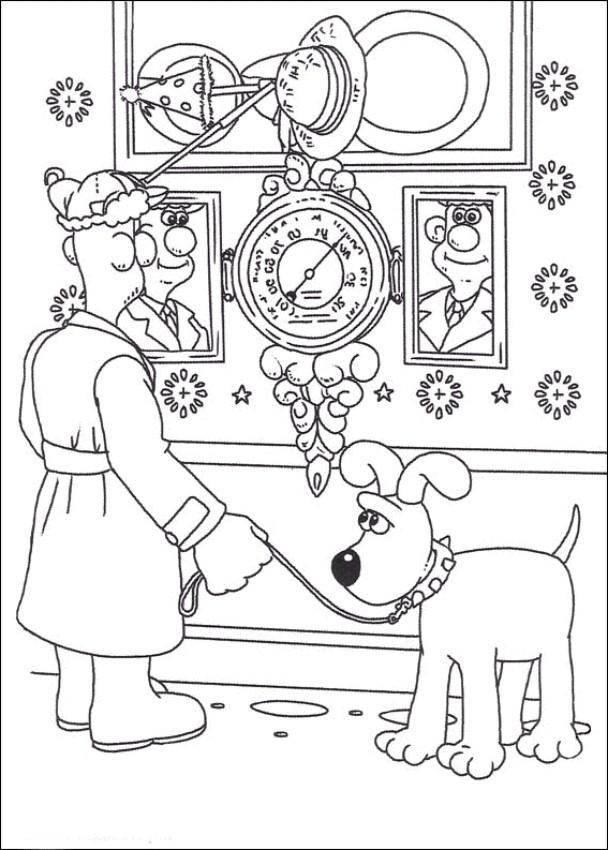 Coloriage 5 de Wallace and Gromit is imprimer et colorier