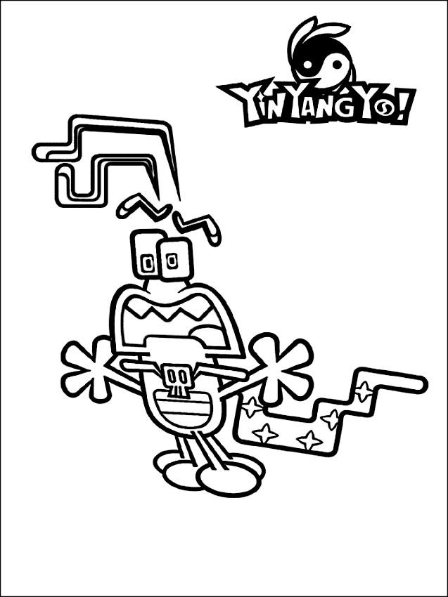 Dibujo 3 de Yin Yang Yo para imprimir y colorear