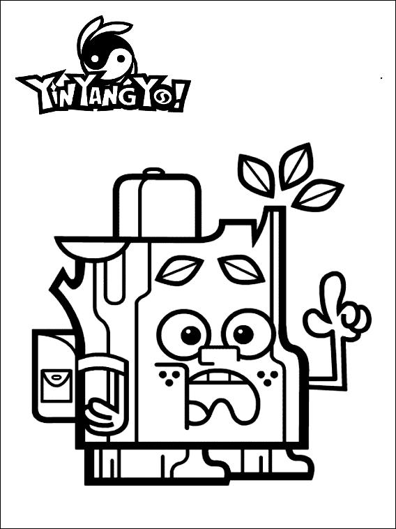 Dibujo 5 de Yin Yang Yo para imprimir y colorear