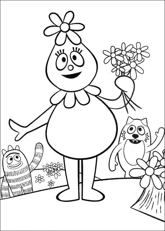 Coloriage 5 des Yo Gabba Gabba is imprimer et colorier