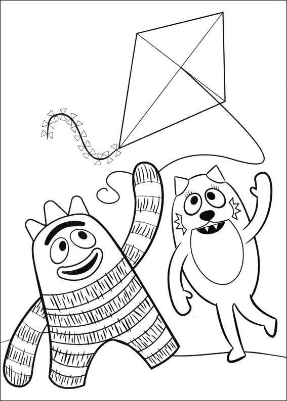 Coloriage 6 des Yo Gabba Gabba is imprimer et colorier