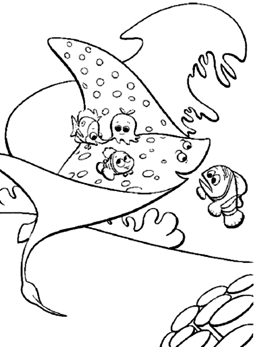 Disegno di ray il maestro di nemo alla ricerca di nemo for Nemo da colorare e stampare