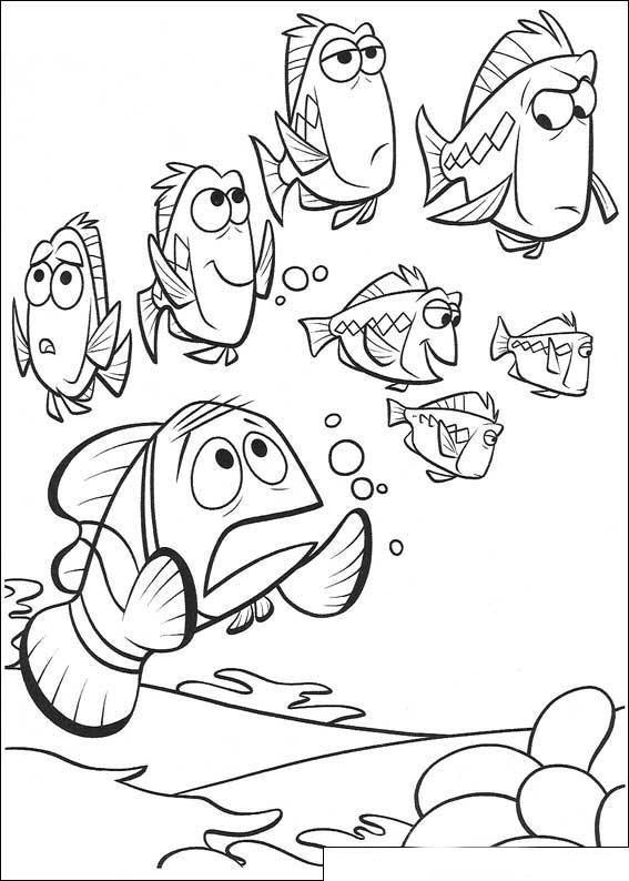 Kolorowanki Gdzie Jest Nemo
