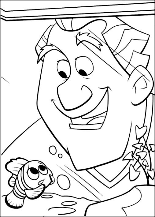 Disegno di nemo e il dentista alla ricerca di nemo da for Nemo da colorare e stampare