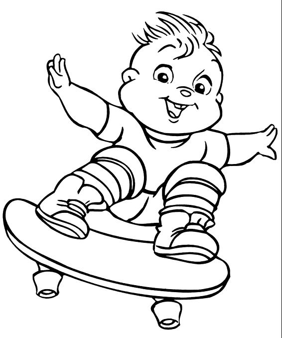 Desenho 1 De Alvin E Os Esquilos Para Colorir