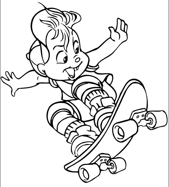 Dibujo 3 de Alvin y las ardillas 파라 임 페리 미르 컬러 컬러