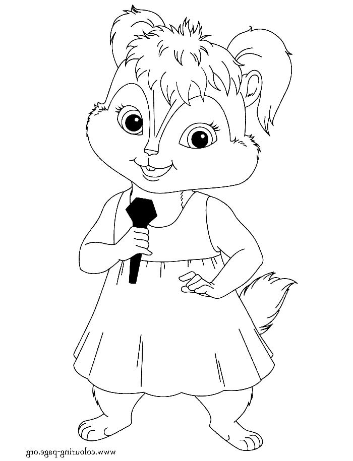 Desenho 13 De Alvin E Os Esquilos Para Colorir