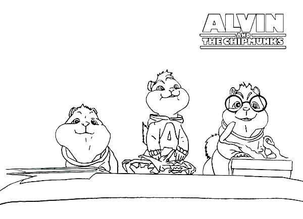 Dibujo 14 de Alvin y las ardillas 파라 임 페리 미르 컬러 컬러