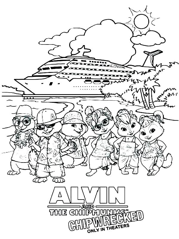 Dibujo 16 de Alvin y las ardillas 파라 임 페리 미르 컬러 컬러