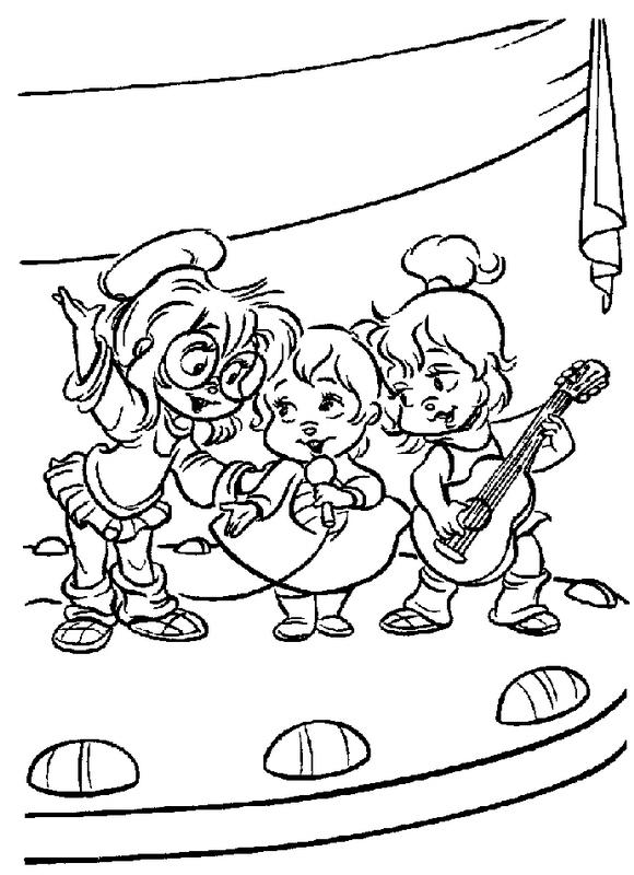 Dibujo 19 de Alvin y las ardillas 파라 임 페리 미르 컬러 컬러