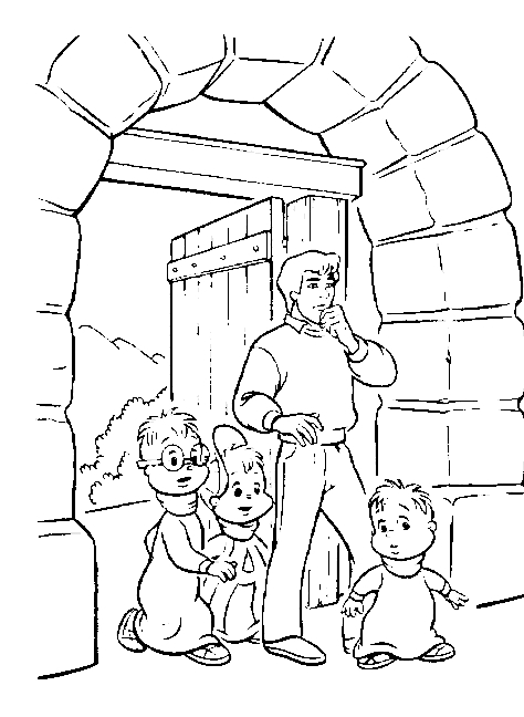 Dibujo 20 de Alvin y las ardillas 파라 임 페리 미르 컬러 컬러