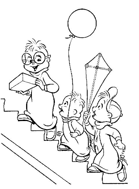 Dibujo 22 de Alvin y las ardillas 파라 임 페리 미르 컬러 컬러