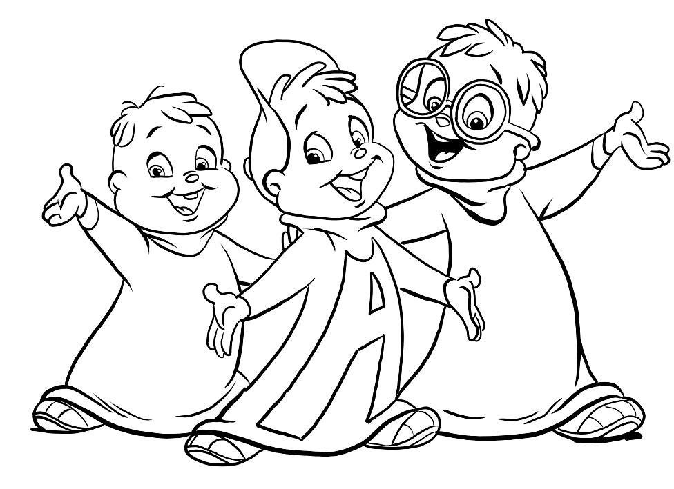 Dibujo 24 de Alvin y las ardillas 파라 임 페리 미르 컬러 컬러