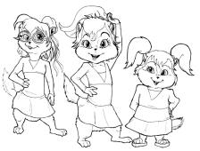 Ausmalbilder Alvin Und Die Chipmunks